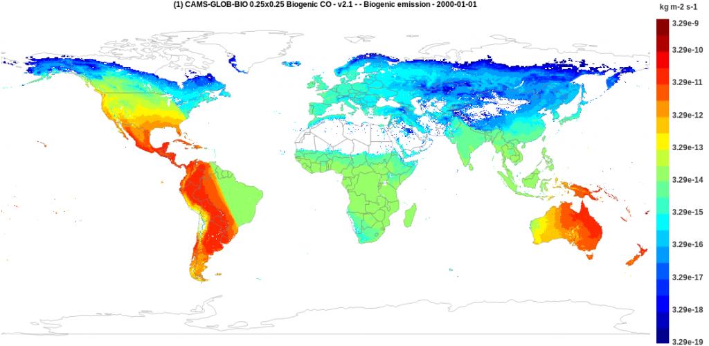 CAMS-GLOB-BIO CO hourly emission H22 - Year 2000