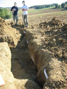 Collecte des solutions de sols gravitaires par plaques lysimétriques en milieu de versant