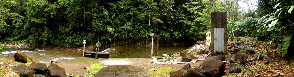 Station hydrologique du site de la Digue, sur la rivière de Capesterre.