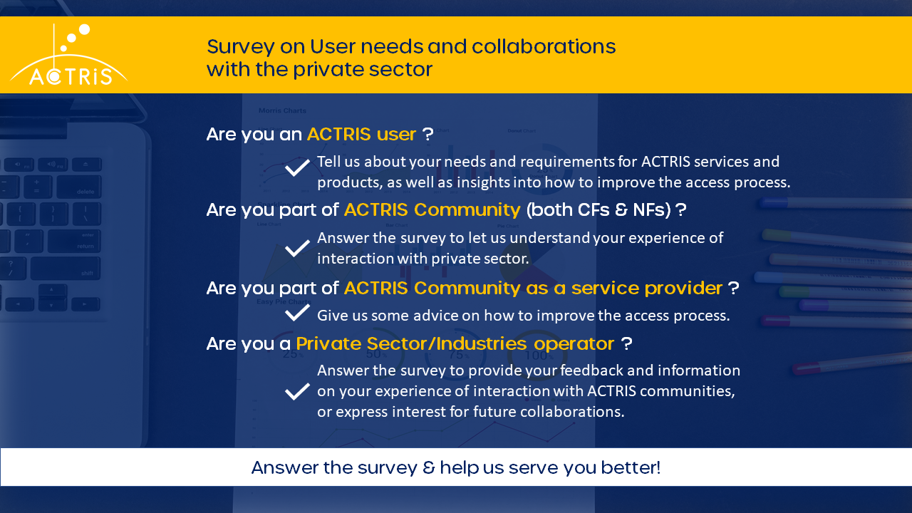 ACTRIS USer Survey description