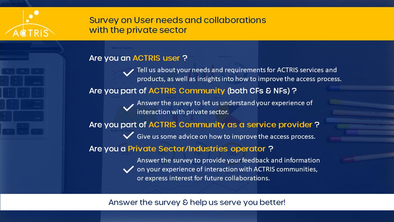 ACTRIS USer Survey description