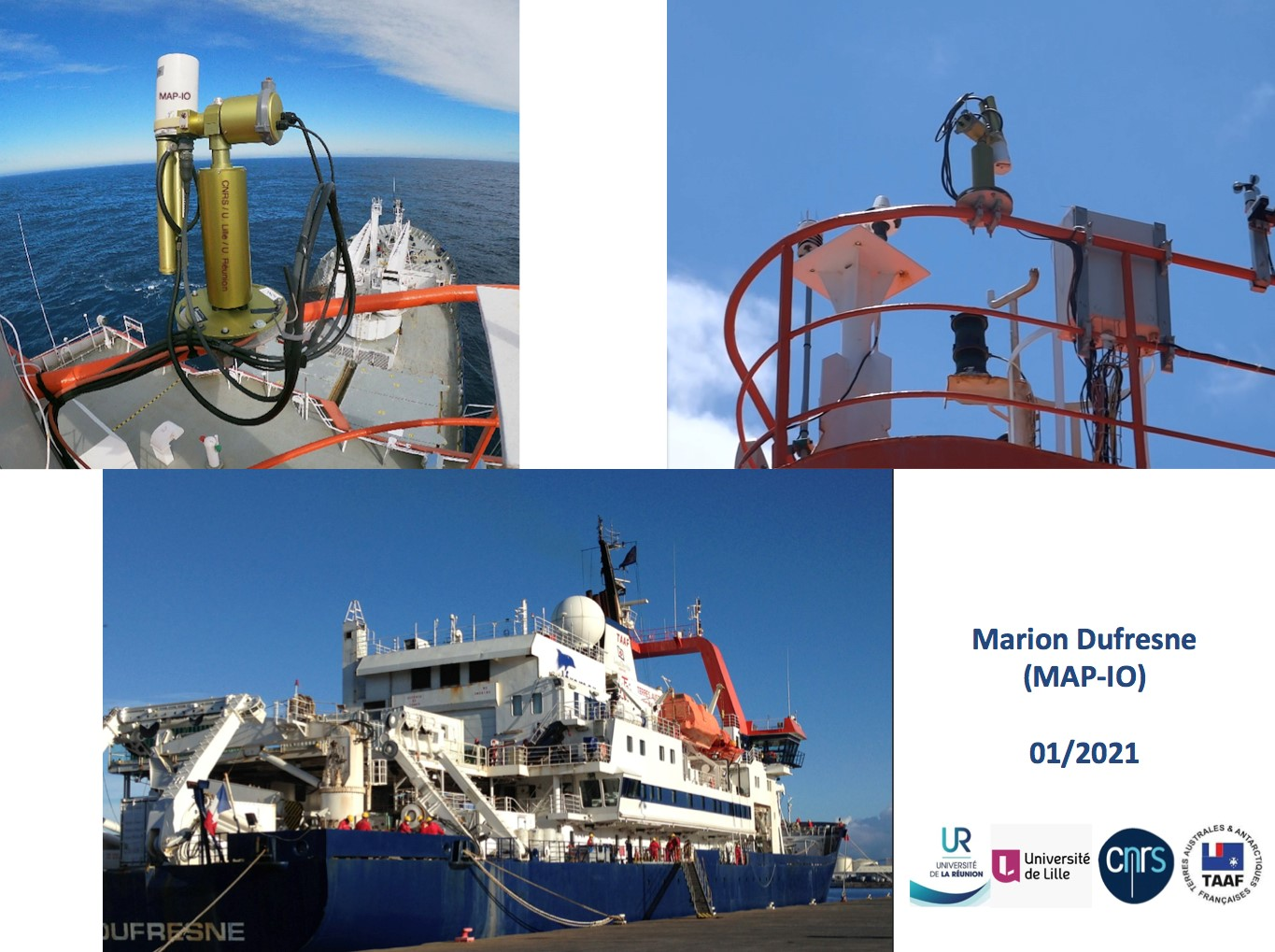 Overview of CIMEL 318T ship-photometer on-board Marion Dufresne